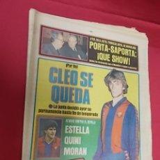 Coleccionismo deportivo: SPORT Nº 816. 27 FEBRERO 1982. CLEO SE QUEDA. PICHICHI QUINI, EL ARIETE DE LAS BOTAS DE ORO. Lote 114011435