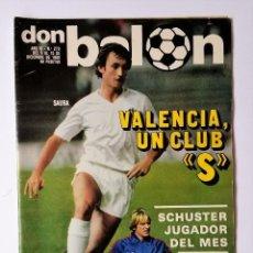 Coleccionismo deportivo: DON BALÓN 270. LOZANO - CAMACHO VS GORDILLO - KORTABARRIA - PINEDA - LAS PALMAS. Lote 114083303