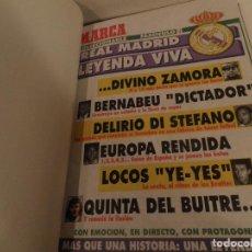 Coleccionismo deportivo: REAL MADRID, LEYENDA VIVA, COLECCIONABLE MARCA - 15 FASCICULOS - ENCUADERNADO . Lote 114129107
