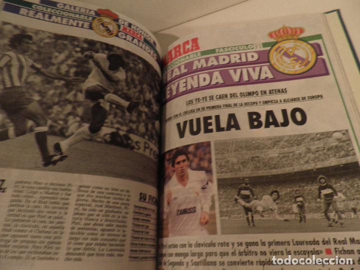 Coleccionismo deportivo: REAL MADRID, LEYENDA VIVA, COLECCIONABLE MARCA - 15 FASCICULOS - ENCUADERNADO - Foto 10 - 114129107