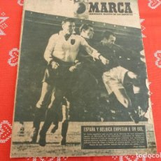 Coleccionismo deportivo: MARCA(4-1-49)ESPAÑA 1 BÉLGICA 1,STADE FRANÇAIS 0 AT.MADRILEÑO 2,LA COPA ARENAS DE ZARAGOZA-CASTELLÓN. Lote 114193043