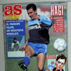 Collectionnisme sportif: AS COLOR Nº262 FEBRERO 1991. HAGI REAL MADRID REY FELIPE COLECCION GRANDES BIOGRAFIAS QUIQUE FLORES. Lote 114207323