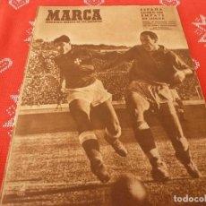 Coleccionismo deportivo: MARCA(22-3-49)PORTUGAL 1 ESPAÑA 1,ESPAÑA-B Y PORTUGAL-B,R.MADRID 2 SAINT ETTIENNE 0,MUNDO(VALENCIA). Lote 114236123