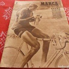 Coleccionismo deportivo: MARCA(26-7-49)EL CELTA DE VIGO,EL TIRO DE CUERDA,BOXEO,BEISBOL,TOUR DE FRANCIA,COPPI.. Lote 114441299