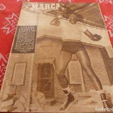 Coleccionismo deportivo: MARCA(9-8-49)XII DESCENSO SELLA PIRAGUA,TRAVESIA LAGUNA DE PEÑALARA,BOXEO JACK DEMPSEY. Lote 114441647