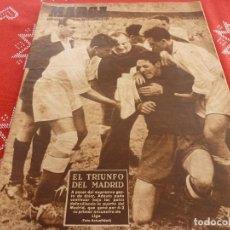 Coleccionismo deportivo: MARCA(6-9-49)R.MADRID 4 SEVILLA 2,ATH.BILBAO 3 BARÇA 1,BADALONA 1 LÉRIDA 3.EL CABALLO DE CHURCHILL. Lote 114442539