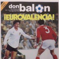 Coleccionismo deportivo: REVISTA DON BALON Nº 375 DEL 14 AL 20 DICIEMBRE DE 1982 PAGINA CENTRAL CROMOS DEL R.BETIS. Lote 114596891