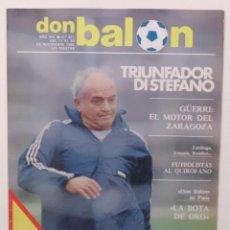 Coleccionismo deportivo: REVISTA DON BALON Nº 371 DEL 17 AL 23 NOVIEMBRE DE 1982 PAGINA CENTRAL CROMOS DEL F.C.BARCELONA. Lote 114597419
