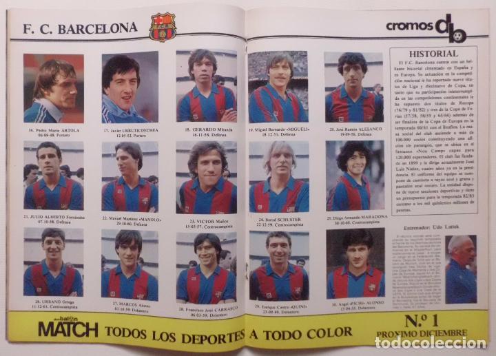 Coleccionismo deportivo: REVISTA DON BALON Nº 371 DEL 17 AL 23 NOVIEMBRE DE 1982 PAGINA CENTRAL CROMOS DEL F.C.BARCELONA - Foto 2 - 114597419