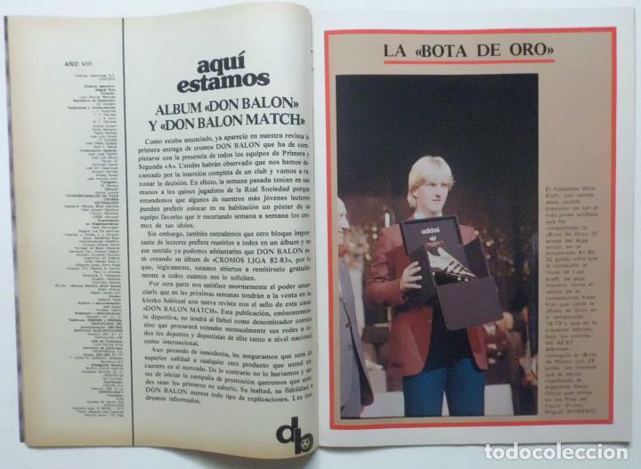 Coleccionismo deportivo: REVISTA DON BALON Nº 371 DEL 17 AL 23 NOVIEMBRE DE 1982 PAGINA CENTRAL CROMOS DEL F.C.BARCELONA - Foto 3 - 114597419