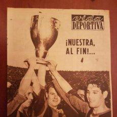 Coleccionismo deportivo: VIDA DEPORTIVA MAYO 1953 BARÇA FÚTBOL CLUB BARCELONA CAMPEÓN LIGA TROFEO EN PROPIEDAD POR 5 TRIUNFOS. Lote 114639323