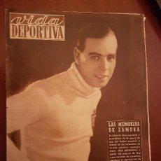 Coleccionismo deportivo: VIDA DEPORTIVA AGOSTO 1949 PRIMERA ENTREGA MEMORIAS RICARDO ZAMORA (RCD ESPANYOL BARÇA REAL MADRID). Lote 114640087