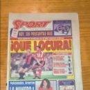 Coleccionismo deportivo: PERIÓDICO SPORT - QUÉ LOCURA - KOEMAN - CUMPLEAÑOS SÁNCHEZ VICARIO - 4 FEBRERO 1995. Lote 114649623