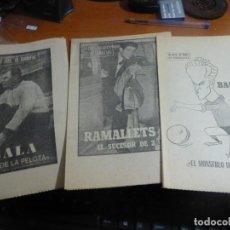 Coleccionismo deportivo: 12 BIOGRAFIAS DE JUGADORES DEL BARCELONA DEL COLECCIONABLE 40 DIAS, 40 ASES, 40 BIOGRAFIAS. Lote 114690739