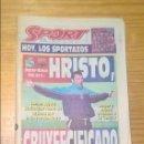 Coleccionismo deportivo: PERIÓDICO SPORT - 6 MAYO 1995 - CRUYFFCIFCADO - STOICHKOV EN PORTADA - PREVIA DEPOR BARÇA. Lote 114824199
