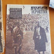 Coleccionismo deportivo: VIDA DEPORTIVA DERBI DIC 1952 BARÇA 2 RCD ESPANYOL ESPAÑOL 1 LÍDER LIGA EQUIPO DEL OXÍGENO SCOPELLI. Lote 114936511