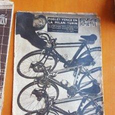 Coleccionismo deportivo: VIDA DEPORTIVA MARZO 1957 MIGUEL MIQUEL POBLET CAMPEÓN MILAN TURÍN CICLISMO. Lote 114936727