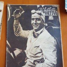 Coleccionismo deportivo: VIDA DEPORTIVA SEPTIEMBRE 1950 PORTADA GIUSSEPE FARINA CAMPEÓN MUNDIAL FÓRMULA 1 AUTOMOVILISMO. Lote 114937343