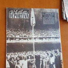 Collectionnisme sportif: VIDA DEPORTIVA JUNIO 1950 UNIÓ ESPORTIVA U.E LLEIDA LÉRIDA ASCENSO SUBE PRIMERA DIVISIÓN FÚTBOL LIGA. Lote 114937843