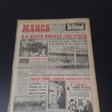 Coleccionismo deportivo: MARCA. 2/03/1959. ITALIA,0 - ESPAÑA,0. JORNADA DE COPA.. Lote 115058304