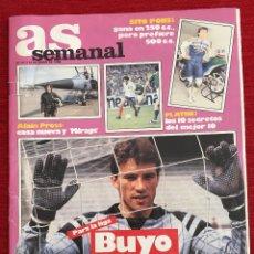 Coleccionismo deportivo: REVISTA PERIODICO AS SEMANAL 22 JUNIO 1986 Nº 21 BUYO ALAIN PROST PLATINI SITO PONS GRAF. Lote 115213679