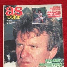 Coleccionismo deportivo: REVISTA PERIODICO AS COLOR 13 AGOSTO 1989 Nº 183 ARANCHA SANCHEZ VICARIO SEPP MAIER CAMACHO MALONE. Lote 115213871