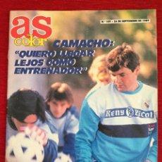 Coleccionismo deportivo: REVISTA PERIODICO AS COLOR 24 SEPTIEMBRE 1989 Nº 189 CAMACHO VELA POSTER KARL MALONE UTAH. Lote 115214231
