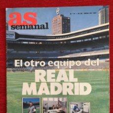 Coleccionismo deportivo: REVISTA AS SEMANAL 28 JUNIO 1987 Nº 74 REAL MADRID VAN BREUKELEN BOB MCADOO IVAN LENDL. Lote 115215199