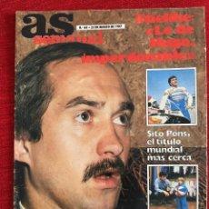 Coleccionismo deportivo: REVISTA AS SEMANAL 22 MARZO 1987 Nº 60 STIELIKE POLSTER J.M. MARGALL BECKER. Lote 115215571