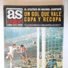 Coleccionismo deportivo: AS DEL 11/7/1972 - EL AT. MADRID CAMPEÓN DE COPA - POSTER PLANTILLA GIMNÁSTICO DE TARRAGONA - FOTOS. Lote 115246139