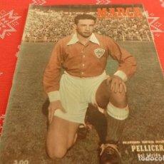 Coleccionismo deportivo: MARCA(3-4-51)!!!AT.MADRID 7 LÉRIDA 1 !!! BARÇA 7 MÁLAGA 2,BILBAO 8 ALCOYANO 1.. Lote 126006654