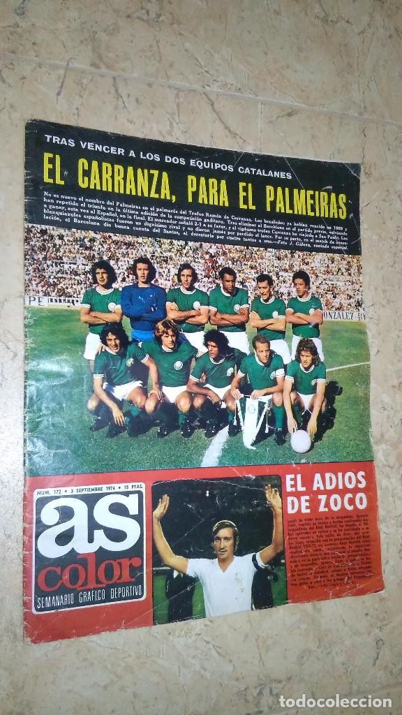 REVISTA AS COLOR N° 172. AÑO 1974. EL ADIÓS DE ZOCO . NO TIENE PÓSTER. (Coleccionismo Deportivo - Revistas y Periódicos - As)