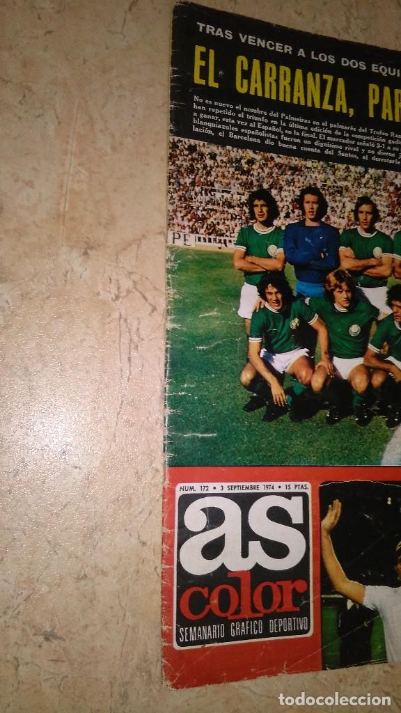 Coleccionismo deportivo: Revista as color n° 172. Año 1974. El adiós de zoco . no tiene póster. - Foto 21 - 115371243