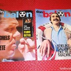 Coleccionismo deportivo: DON BALON - 2 EJEMPLARES NUEVOS - TODO EN COLOR SOBRE EL EURO-BETIS Y STIELIKE - REAL MADRID. Lote 115384423