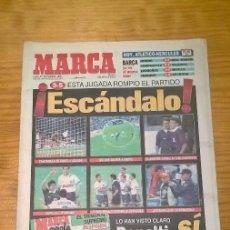 Coleccionismo deportivo: DIARIO MARCA - ESCÁNDALO EN LA ROMAREDA - RAFA GUERRERO - 30 SEPTIEMBRE 1996. Lote 115407307