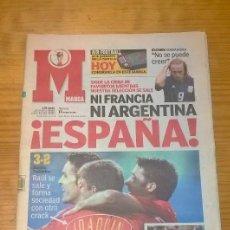 Coleccionismo deportivo: DIARIO MARCA - ESPAÑA 3 SUDÁFRICA 2 - MUNDIAL COREA Y JAPÓN - 13 JUNIO 2002. Lote 115409111