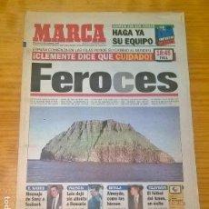 Coleccionismo deportivo: DIARIO MARCA - FEROCES - ESPAÑA ISLAS FEROE - 4 SEPTIEMBRE 1996. Lote 115409939