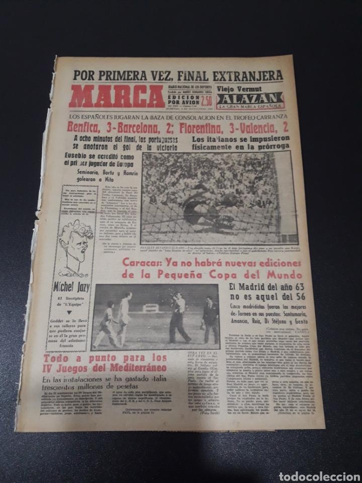 MARCA. 1/09/1963. TROFEO CARRANZA. BENFICA,3 - BARCELONA,2. FIORENTINA,3 - VALENCIA,2. DI STEFANO L (Coleccionismo Deportivo - Revistas y Periódicos - Marca)