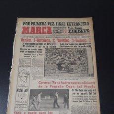 Coleccionismo deportivo: MARCA. 1/09/1963. TROFEO CARRANZA. BENFICA,3 - BARCELONA,2. FIORENTINA,3 - VALENCIA,2. DI STEFANO L. Lote 115578222