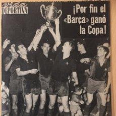 Coleccionismo deportivo: VIDA DEPORTIVA.24/6/63.FINAL COPA. BARCELONA,3-ZARAGOZA,1. Lote 116412684