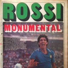 Coleccionismo deportivo: AS.13/7/1982. ROSSI MONUMENTAL. ITALIA CAMPEÓN MUNDIAL ESPAÑA 82. Lote 116451584