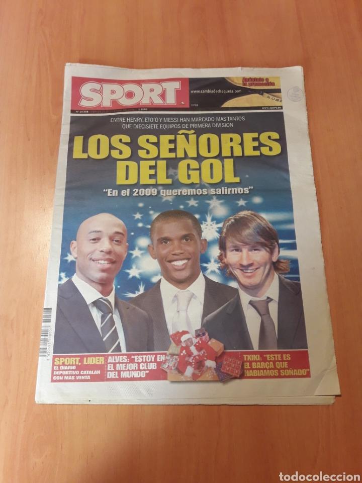 SPORT. N° 10.508. 26/12/2008. LOS SEÑORES DEL GOL. 'EN EL 2009 QUEREMOS SALIRNOS'. (Coleccionismo Deportivo - Revistas y Periódicos - Sport)
