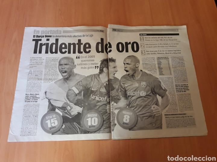 Coleccionismo deportivo: SPORT. N° 10.508. 26/12/2008. LOS SEÑORES DEL GOL. 'EN EL 2009 QUEREMOS SALIRNOS'. - Foto 2 - 116539450