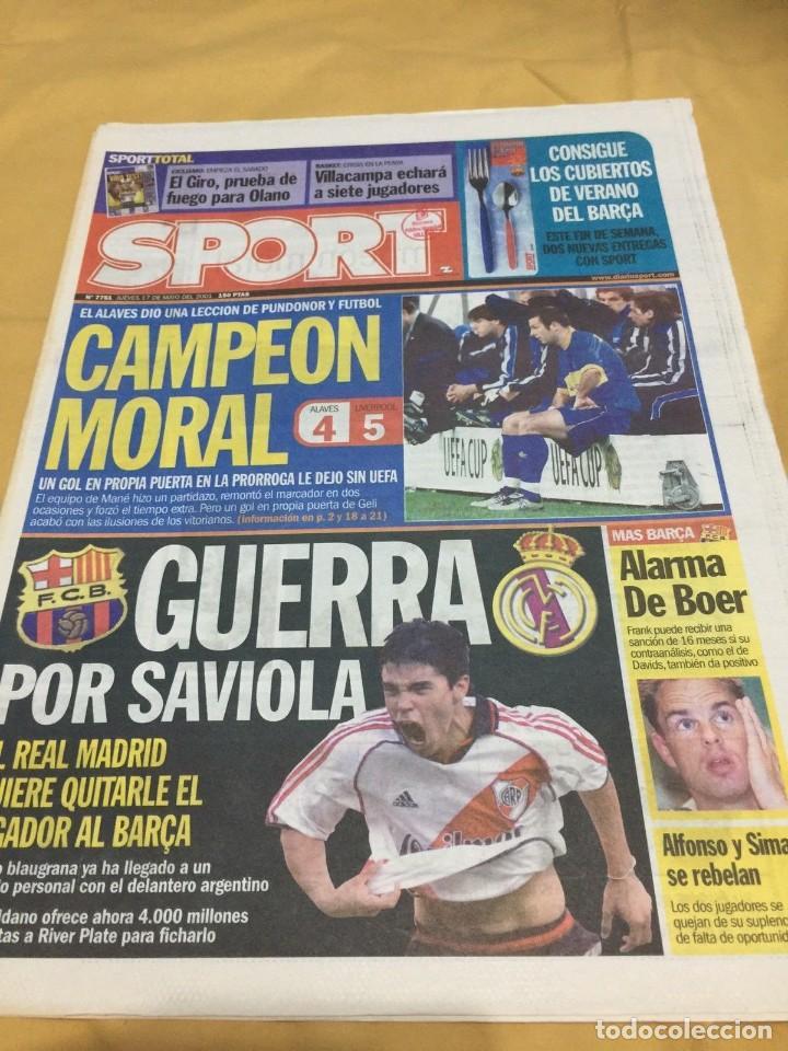 SPORT.17/5/2001.FINAL UEFA.ALAVES,4 - LIVERPOOL,5 (Coleccionismo Deportivo - Revistas y Periódicos - Sport)