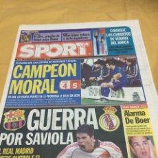 Coleccionismo deportivo: SPORT.17/5/2001.FINAL UEFA.ALAVES,4 - LIVERPOOL,5. Lote 116580983