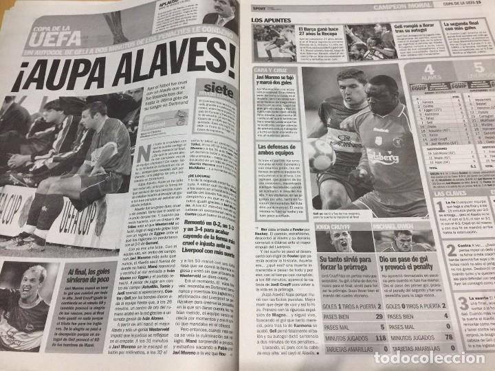 Coleccionismo deportivo: Sport.17/5/2001.Final UEFA.Alaves,4 - Liverpool,5 - Foto 2 - 116580983
