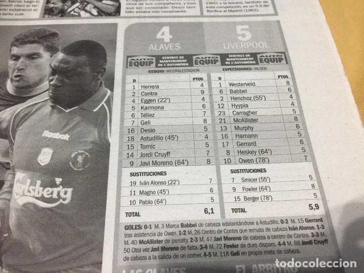 Coleccionismo deportivo: Sport.17/5/2001.Final UEFA.Alaves,4 - Liverpool,5 - Foto 3 - 116580983
