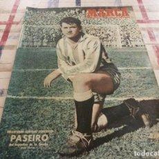 Coleccionismo deportivo: MARCA(27-3-51)VALENCIA 1 AT.MADRID 0,BEN BAREK,R.MADRID 6 MURCIA 0,EL FERROL,ALMERIA Y TUDELANO.. Lote 116599231