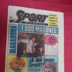 Coleccionismo deportivo: SPORT Nº 431. 29 ENERO 1981. CRUYFF Y MARADONA UNIDOS POR EL BARÇA. Lote 116703563