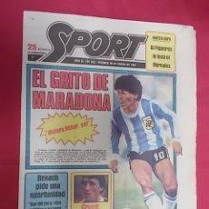 Coleccionismo deportivo: SPORT Nº 432. 30 ENERO 1981. MARADONA. ¡ QUIERO FICHAR, YA !. Lote 116703747